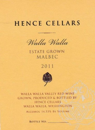 2011 Hence Cellars Estate Malbec 750 Ml