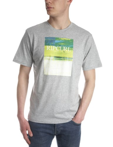 Ripcurl Glitch Shortsleeve Printed Men's T-Shirt Cement Marle Small