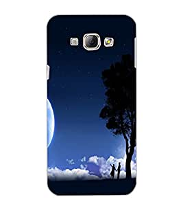 SAMSUNG GALAXY A8 MOON LIGHT Back Cover by PRINTSWAG