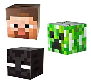 Official Minecraft Exclusive Steve , Creeper & Enderman Head Costume Mask Set of 3 from Unknown