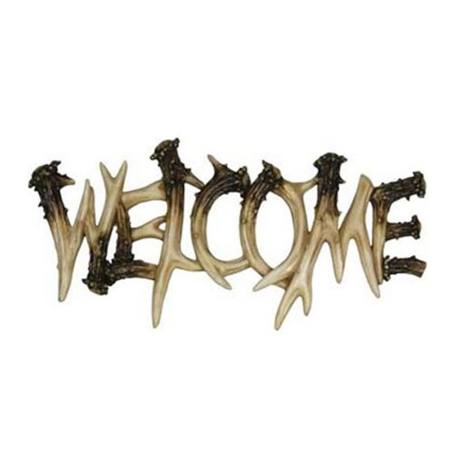 Rivers Edge Products Deer Antler Theme Welcome Plaque