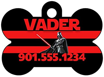 Disney Star Wars Darth Vader Dog Tag Pet Id Tag Personalized w/ Your Pet's Name & Number