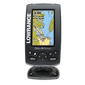 Lowrance ELITE-4M HD Chartplotter with Internal GPS and Base Map by Lowrance