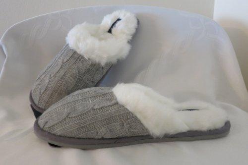 Cheap Nautica Womens Grey Slippers (B00A6FIJ98)