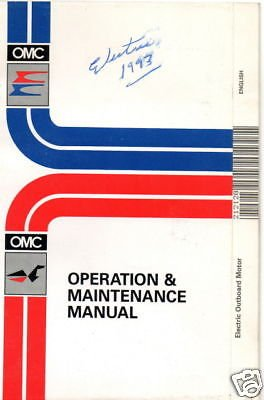 1993 Omc Electric Outboard Motor Owners Manual