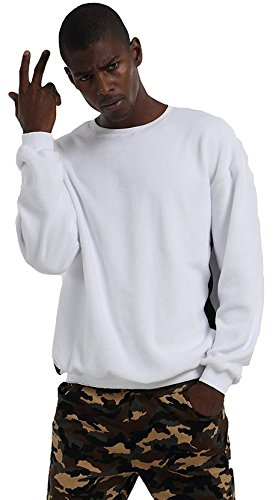 Pizoff Hip Hop Urban Velvet Soft Warm Velour Leather Pached Drop Shoulder Sweatshirts Y1537-White-M