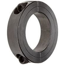 "Climax Metal 2C-187 Two-Piece Clamping Collar, Black Oxide Plating, Steel, 1-7/8"" Bore, 2-7/8"" OD, 11/16"" Width"