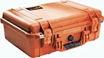 Pelican 1500 Case with Foam for Camera (Orange)