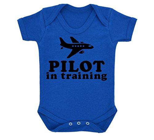pilot-in-training-design-baby-body-royal-blau-mit-schwarzem-print-gr-68-blau-konigsblau