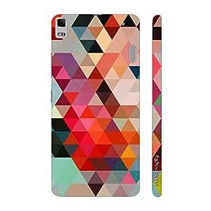 Enthopia Designer Hardshell Case Triangular Art Back Cover for Lenovo K3 note