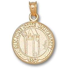 San Jose State Seal - 14K Gold by Logo Art