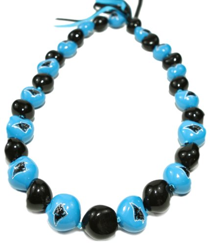 NFL Carolina Panthers Go Nuts Kukui Nut Lei Necklace