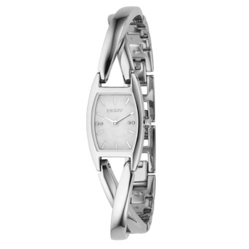 DKNY Ladies Stainless Steel Analogue Twist Bracelet Watch