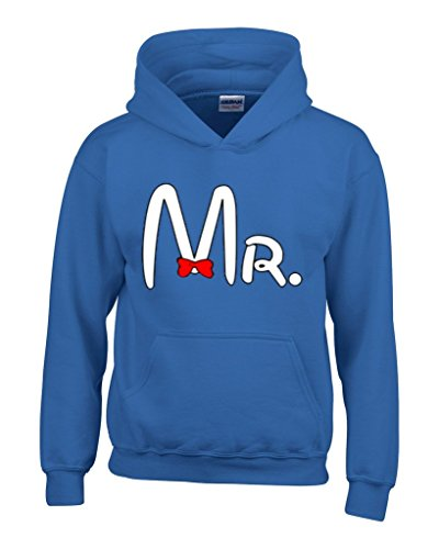 Mr. Matching Couples Unisex Hoodie Couple Sweatshirts Small Royal Blue