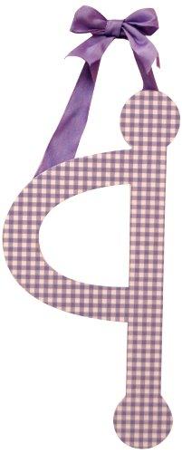"My Baby Sam 9"" Lavender Gingham Hanging Letter, Q"
