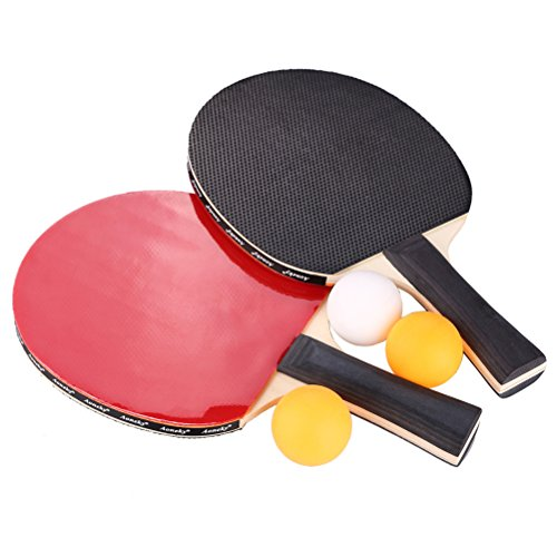Aoneky Ping Pong Paddle Set - 2 Player Table Tennis Paddles with Cover and Balls (Table Tennis Paddle Cover compare prices)