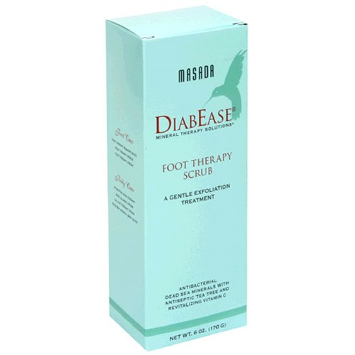 Masada DiabEase Foot Therapy Scrub, 6 oz (170 g) (Pack of 2)