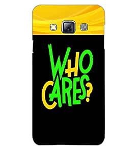 SAMSUNG GALAXY A3 WHO CARES Back Cover by PRINTSWAG