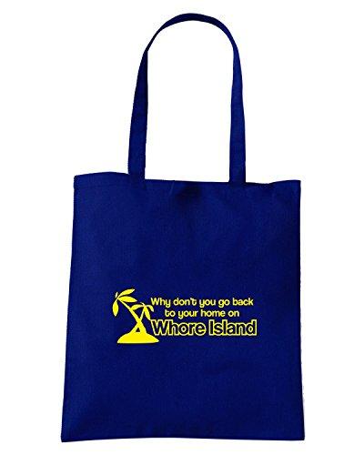 T-Shirtshock - Borsa Shopping FUN0572 ANCHORMAN WHORE ISLAND SKY MENS cu 4 1, Taglia Capacita 10 litri