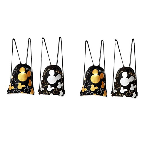 Disney Mickey Mouse Drawstring Backpack 4 Pack (Disney Draw Bag compare prices)