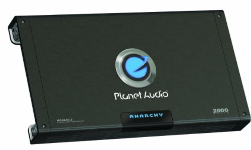 Planet Audio Ac2600.2 Anarchy 2600-Watts Full Range Class A/B 2 Channel 2 Ohm Stable Amplifier