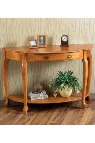 Cheap 60″w Queen Anne Half-moon Console Table (B000A5AJSI)