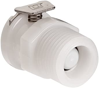 Posi-Link Acetal, Push-to-Connect Tube Fitting, Thread Socket (Valved), NPT Male