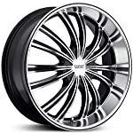 Cruiser Alloy Shadow 17×7.5 Machined Black Wheel / Rim 5×4.25 & 5×4.5 with a 38mm Offset and a 73.00 Hub Bore. Partnumber 912MB-7751438