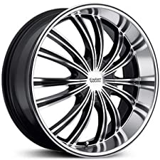 Cruiser Alloy Shadow 20×8.5 Machined Black Wheel / Rim 5×4.25 & 5×4.5 with a 40mm Offset and a 73.00 Hub Bore. Partnumber 912MB-2851440