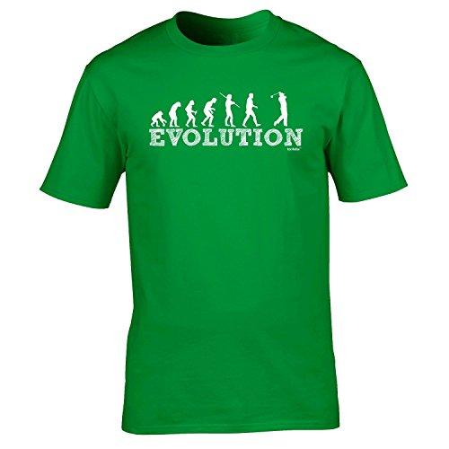Fonfella Slogans Men'S Evolution Golf - Loose Fit Baggy T Shirt Medium Kelly Green