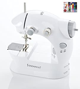 Portable Mini 2-speed Sewing Machine With 100 Piece Kit by Continental Electric