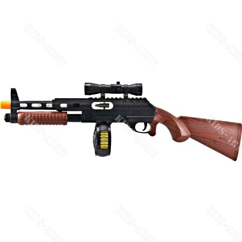 Hybrid Pump-Shot Sub-Machine Gun With Lights & Sounds - Solid Stock front-845511