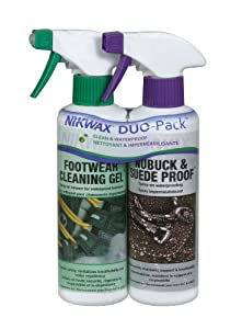 Buy Nikwax Nubuck & Suede Spray Duo-Pack for Footwear, 10 fl. oz by Nikwax