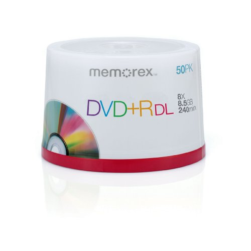 Memorex 8.5GB 8X Double Layer DVD+R (50pk Spindle)