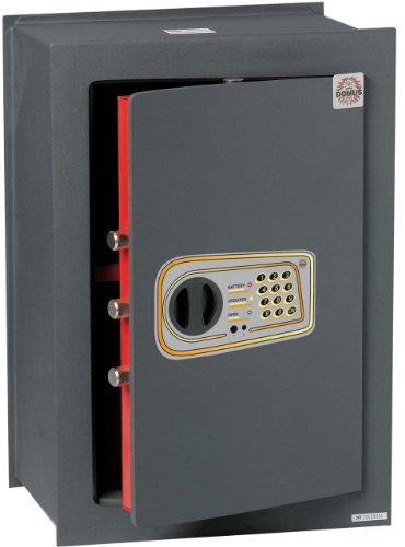 Domus DL/6 Cassaforte a Muro, Serratura Elettronica, Grigio Scuro