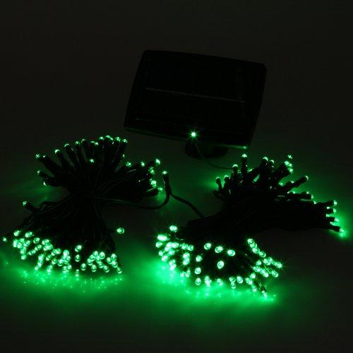 Chicho 200 Led Solar Powered Green Led String Light Xmas Wedding Party Waterproof Uk