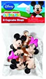 Mickey and Minnie Mouse Cupcake Rings Toppers - 8 ct