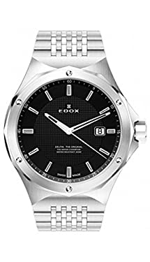 Edox Men's 53005 3M NIN Delfin Analog Display Swiss Quartz Silver Watch