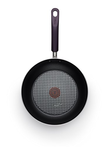 T-fal B13107 Color Luxe Hard Titanium Nonstick Thermo-Spot Dishwasher Safe PFOA Free Fry Pan Cookware, 12-Inch, Purple