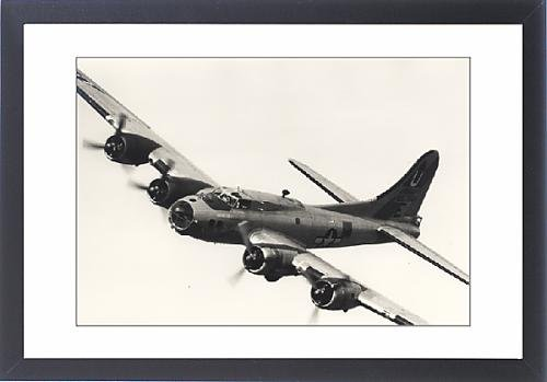 Framed Artwork of Boeing B-17G Flying Fortress, /G-BEDF, Sally B