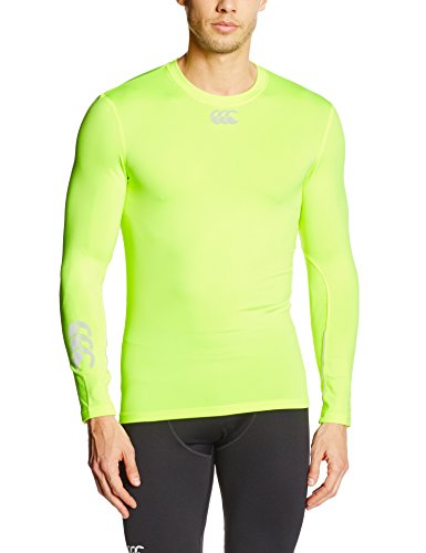 Canterbury Men's Flurocold LS Baselayer - Yellow, Small