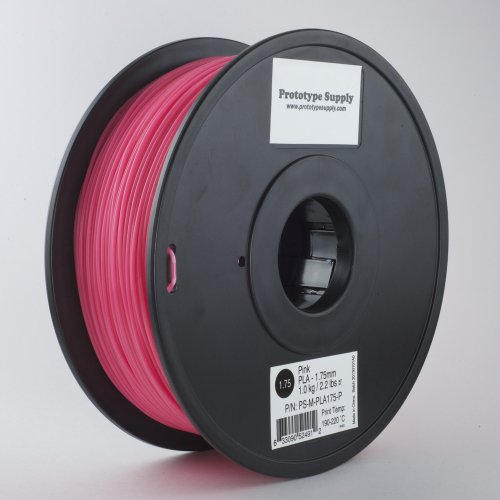Prototype Supply PLA 3D Printing Filament 3mm Pink 1kg/roll (2.2 pounds)