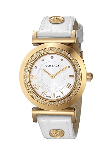 Versace-Womens-P5Q84SD001-S001-Vanity-Watch-With-White-Leather-Band