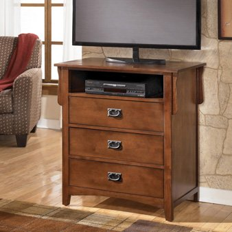 Cheap Small Brown Media Chest TV Stand (B463-39)