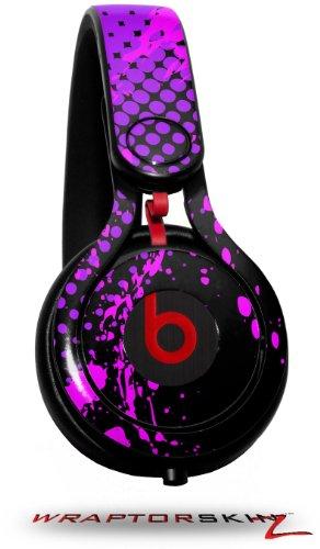 Halftone Splatter Hot Pink Purple Decal Style Skin (Fits Genuine Beats Mixr Headphones - Headphones Not Included)