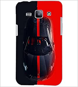 PrintDhaba Car D-4066 Back Case Cover for SAMSUNG GALAXY J1 (Multi-Coloured)
