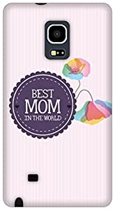 The Racoon Lean Best Mom hard plastic printed back case/cover for Samsung Galaxy Note Edge