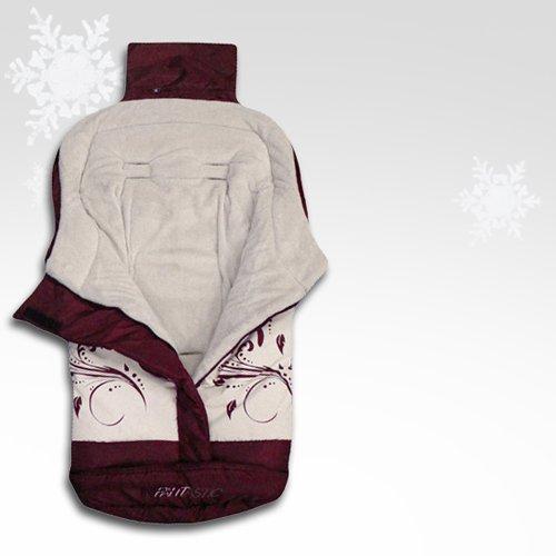 Infantastic - Saco portabebé con forro polar - aprox. 46 x 96 cm - color rojo con detalles