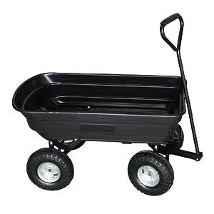 chariot de jardin 4 roues lawnboss cuve r sistante et basculante capacit 75 litres. Black Bedroom Furniture Sets. Home Design Ideas
