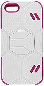 MyBat iPhone 5c Goalkeeper Hybrid Protector Cover - Retail Packaging - White/Pink